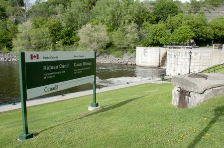 rideau canal: Rideau Canal Locks Sign - Ottawa - Canada