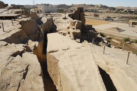 Unfinished Obelisk - Aswan - Egypt Stock Photo