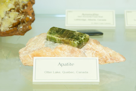 Apatite Mineral Stock Photo