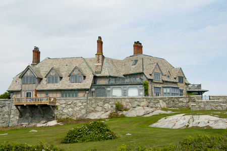 Mansion on Sheep Point Cove - Newport - Rhode Island Stock Photo