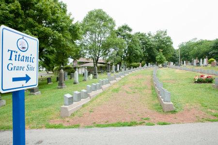 Titanic Graves - Halifax - Nova Scotia Editorial