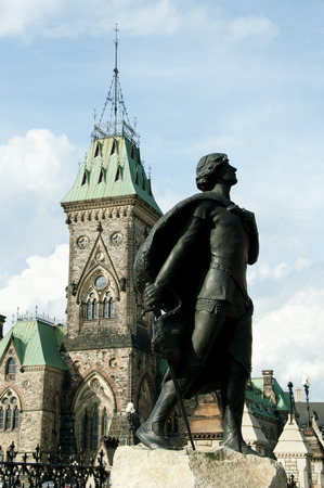 Statue of Sir Galahad in Honor of Harper - Ottawa - Canada Editorial
