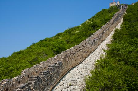mutianyu: Mutianyu Section of the Great Wall of China Stock Photo