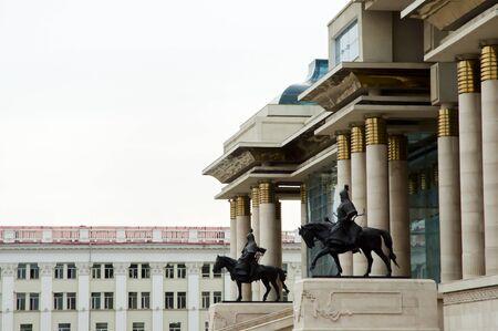 parliament square: Parliament Building - Ulaanbaatar - Mongolia