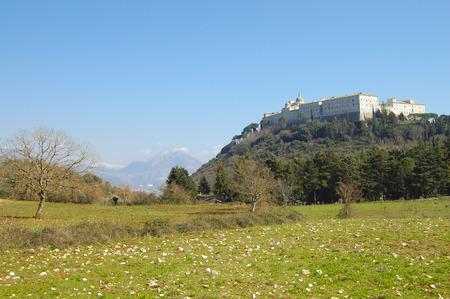 Monte Cassino - Italy Stock Photo