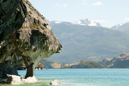 Marble Caves - Carrera Lake - Chile Stock Photo