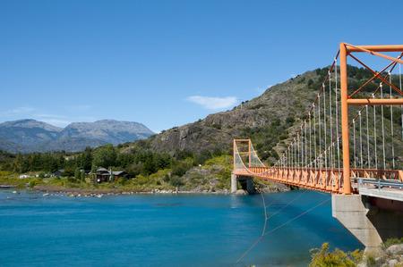 carrera: General Carrera Bridge - Bertrand Lake - Chile Stock Photo