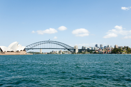 nsw: SYDNEY, AUSTRALIA - December 12, 2016: Iconic Sydney Harbor view from Farm Cove Editorial