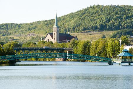 Madawaska River - Edmundston - New Brunswick Stock Photo