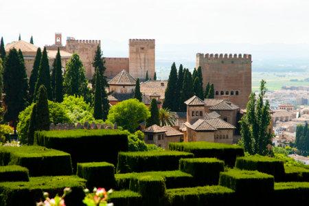 grenada: Generalife Garden in the Alhambra - Granada - Spain