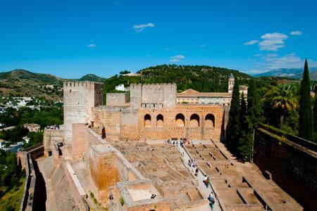 Alcazaba in the Alhambra - Granada - Spain