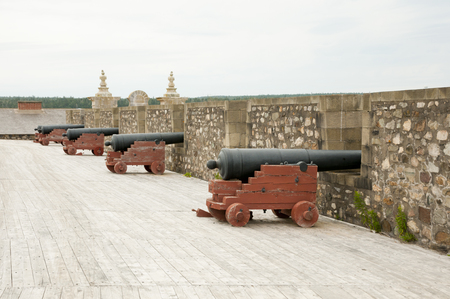 Fort Louisbourg Cannons - Nova Scotia - Canada
