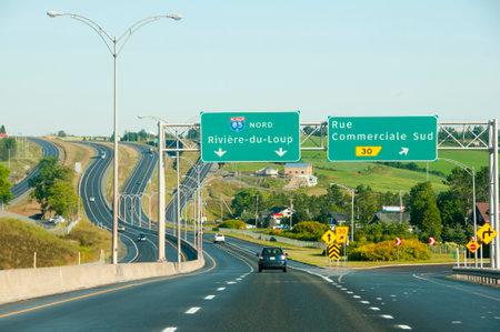 高速道路標識リビエールジュルー - ケベック