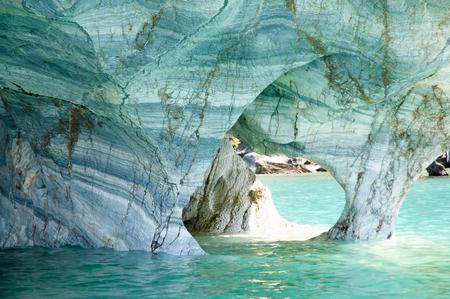 carrera: Marble Caves - Carrera Lake - Chile Stock Photo