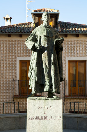 San Juan de la Cruz Statue - Segovia - Spain Editorial