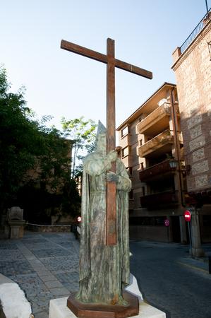 Masked Man with Cross Statue - Segovia - Spain