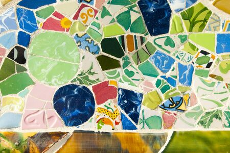 Park Guell Tiles - Barcelona - Spain