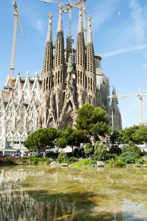 Sagrada Familia Basilica Facade - Barcelona - Spain