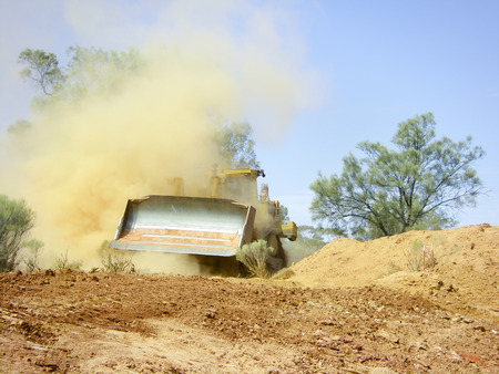 Bulldozer Earthworks Stock Photo - 83557930
