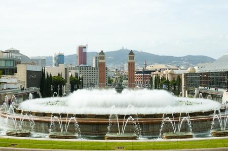 カタルーニャ国立美術館 - バルセロナ - スペインの噴水