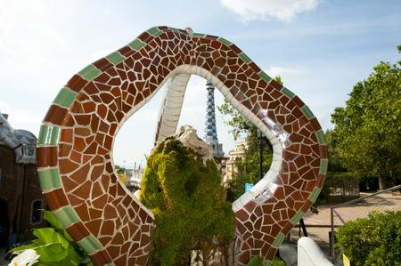 Park Guell Tiles - Barcelona - Spain
