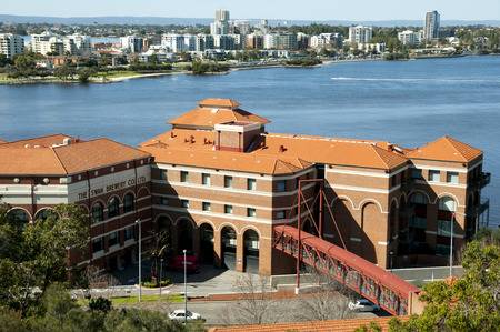 acquired: PERTH, AUSTRALIA - August 18, 2017: Perth Swan Brewery redeveloped building which was acquired in 1877