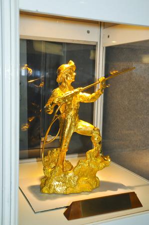 prospector: Estatua del minero de la máquina de oro