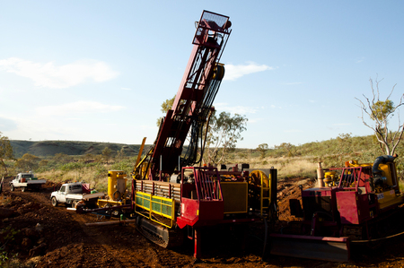 secluded: Exploration RC Drilling Stock Photo