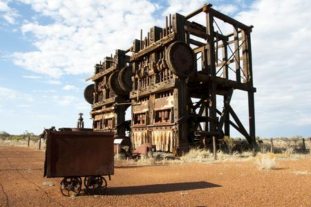 Historic Agnew Stamp Mill - Australia Stock Photo