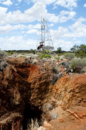Old Gold Rush Mine Shaft