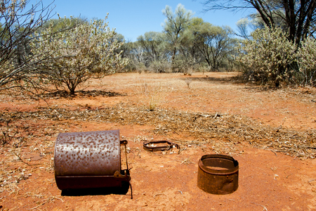 Abandoned Gold Rush Mining Settlement