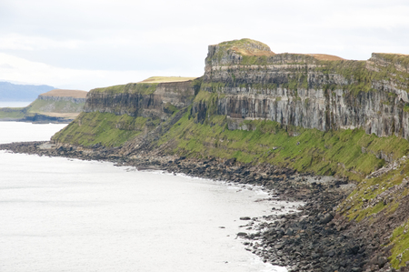 Kilt Rock Cliffs - Scotland Stock Photo