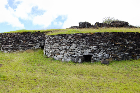 Orongo Stone Houses - Easter Island