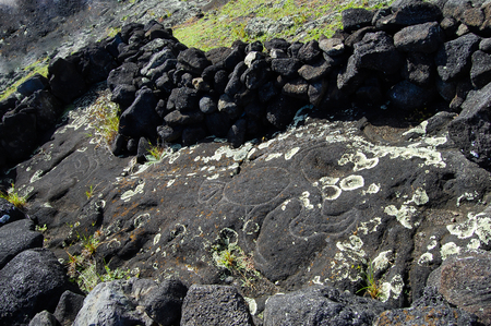 Petroglyphs - Easter Island Stock Photo