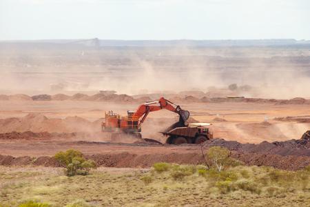 Extraction de minerai de fer Banque d'images