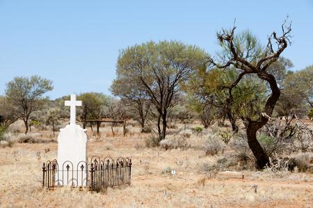 Lawlers Cemetery - Agnew - Western Australia Stock Photo