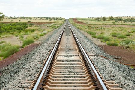 Iron Ore Train Rails - Pilbara - Australia