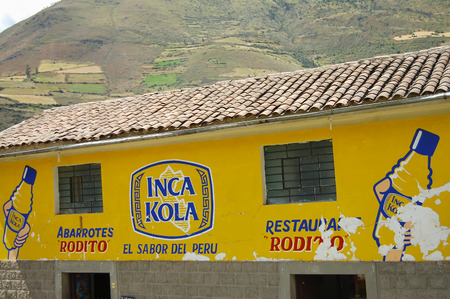 CUZCO, PERU - May 1, 2009: Inca Kola brand is a soft drink that was created in Peru in 1935 by a British immigrant