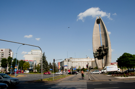 RZESZOW, POLAND - June 22, 2016: The Revolution Monument built in 1974 during the communism era