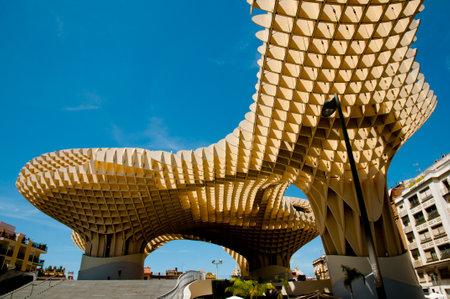 SEVILLE, SPAIN - June 1, 2016: The Metropol Parasol is a wooden structure designed by German architect Jurgen Mayer and completed in April 2011 Sajtókép