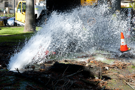 Water Pipe Burst Stockfoto