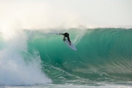 Jakes Point Surfing - Kalbarri - Australia Stock Photo