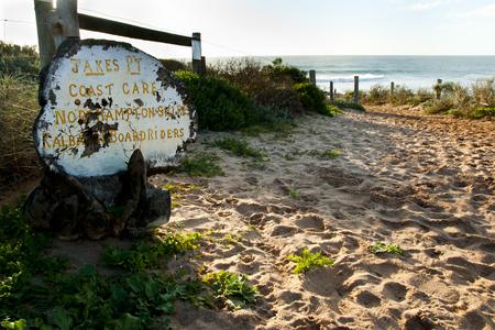 Jakes Point Surfing Sign - Kalbarri - Australia
