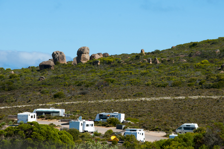 Caravan Camping Ground Stock Photo