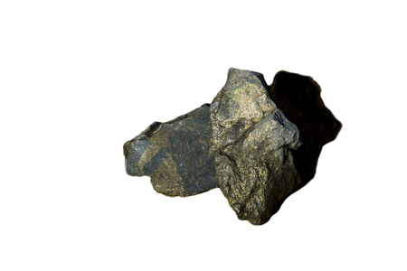 Nickel Ore Rock on White Background
