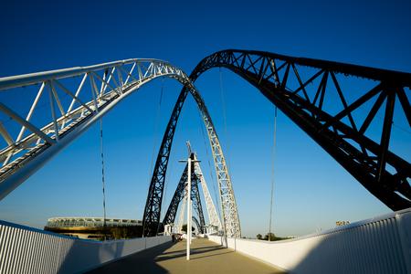 Matagarup Bridge - Perth - Australia Stok Fotoğraf