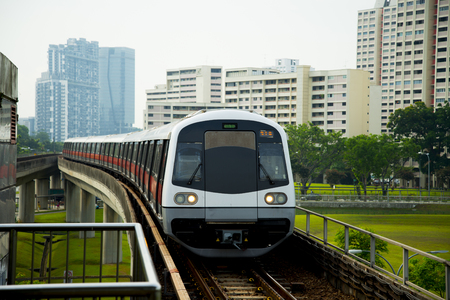 Public Metro Railway - Singapore Stockfoto