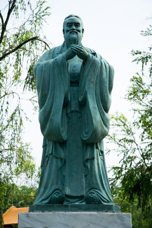 Statue of Confucius Stock Photo