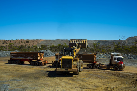 Mining Ore Loads on Road Train