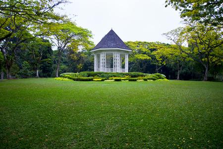The Band Stand - Giardini botanici di Singapore Archivio Fotografico